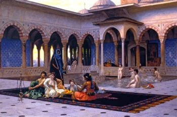 The Terrace of the Seraglio | Jean Leon Gerome | oil painting