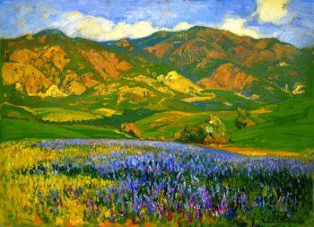 San Fernando Valley Lupines | Franz Bischoff | oil painting
