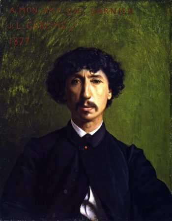 Portrait of Charles Garnier | Jean Leon Gerome | oil painting