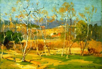 Saplings | Franz Bischoff | oil painting