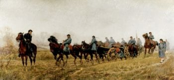 Battery of Light Artillery en Route | William Trego | oil painting