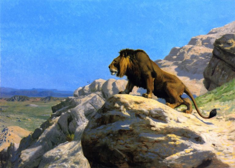 Lion on the Watch | Jean Leon Gerome | oil painting