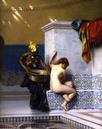 Lady of Cairo Bathing | Jean Leon Gerome | oil painting