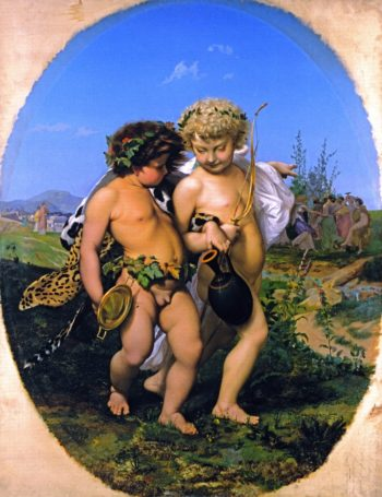 Drunken Bacchus and Cupid | Jean Leon Gerome | oil painting