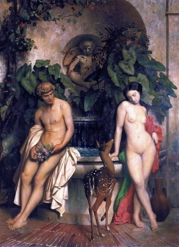 Daphnis and Chloe   Jean Leon Gerome   oil painting