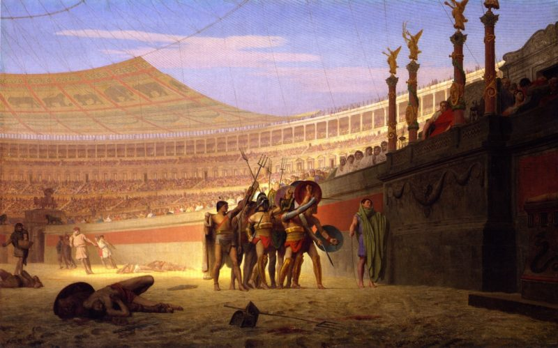Ave Caesar Morituri Te Salutant | Jean Leon Gerome | oil painting