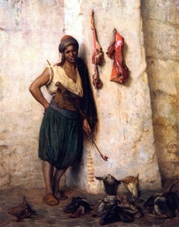 A Turkish Butcher Boy in Jerusalem | Jean Leon Gerome | oil painting