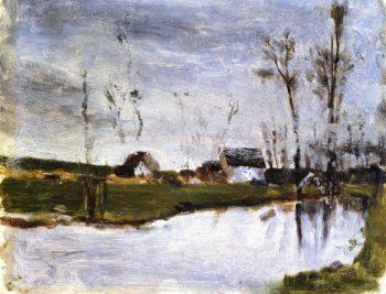 Waterside Houses I | Paul Gauguin | oil painting