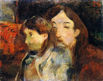 Two People on a Sofa | Paul Gauguin | oil painting