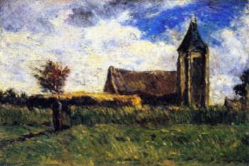 Country Church | Paul Gauguin | oil painting