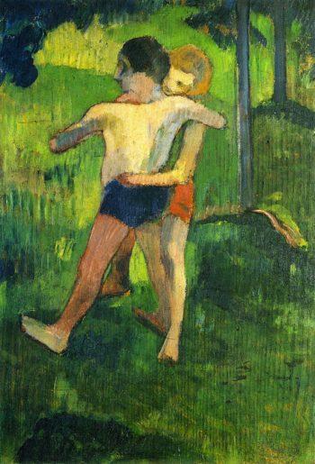 Children Wrestling | Paul Gauguin | oil painting