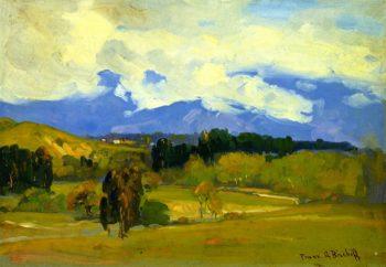 Yellow Landscape | Franz Bischoff | oil painting