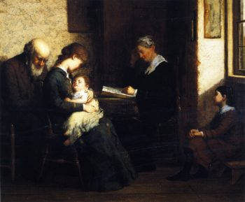 Reading the Bible | George Henry Story | oil painting