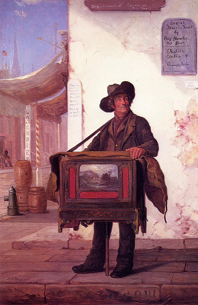 Street Musician | George Henry Story | oil painting
