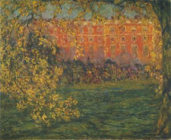 Autumn at Hampton Court | Henri Le Sidaner | oil painting