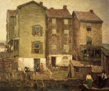 Three Houses | Robert Spencer | oil painting