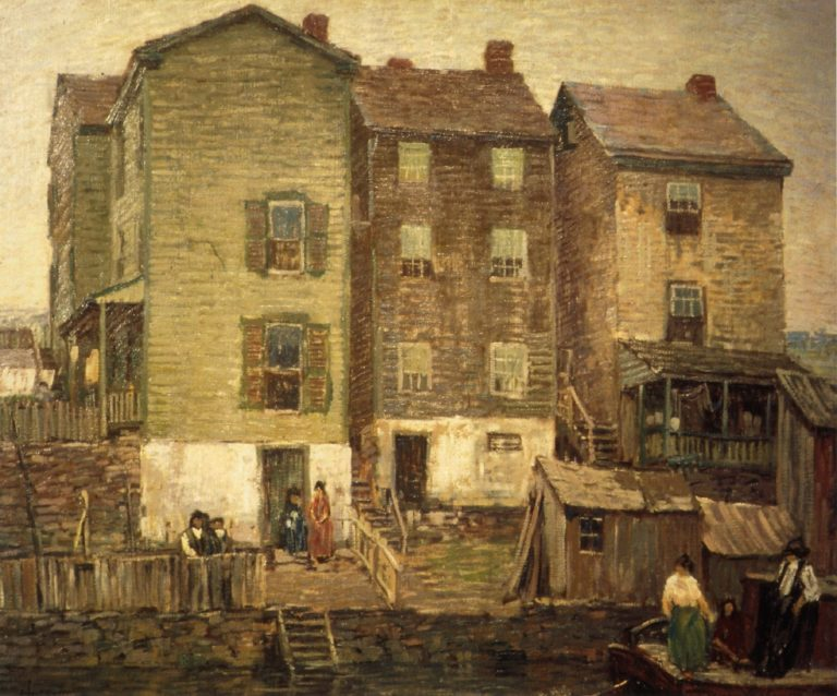 Three Houses | Robert Spencer | oil painting