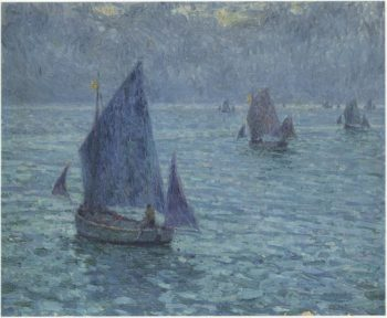 Boats at Twilight | Henri Le Sidaner | oil painting