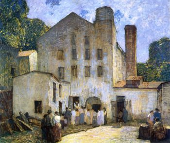 The Silk Mill | Robert Spencer | oil painting