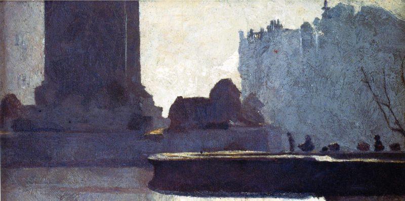 Trafalgar Square | Tom Roberts | oil painting
