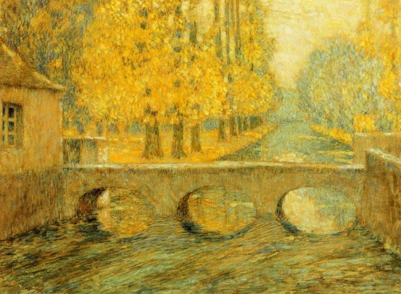 Bridge Autumn Gisors   Henri Le Sidaner   oil painting