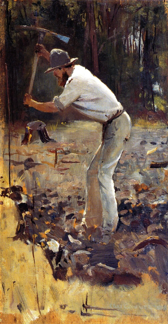 Turning the Soil   Tom Roberts   oil painting