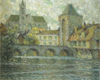 Church on the river | Henri Le Sidaner | oil painting