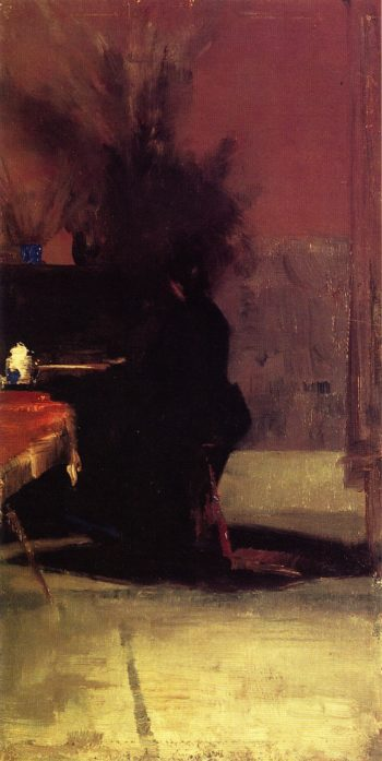 Woman at the Piano | Tom Roberts | oil painting