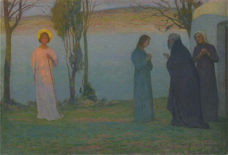 Departure of Tobie | Henri Le Sidaner | oil painting