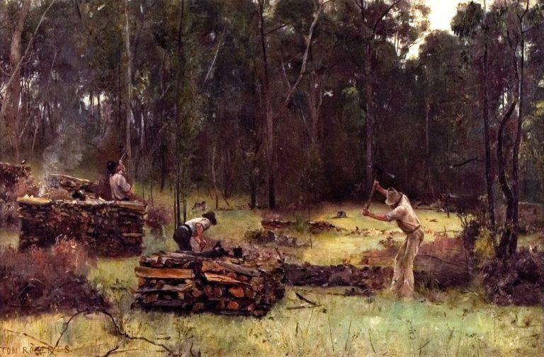 Wood Splitters | Tom Roberts | oil painting