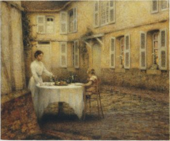 Dinner in the Garden | Henri Le Sidaner | oil painting