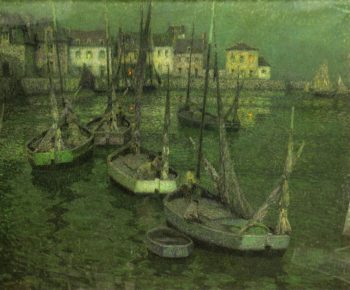 Fishing Boats | Henri Le Sidaner | oil painting