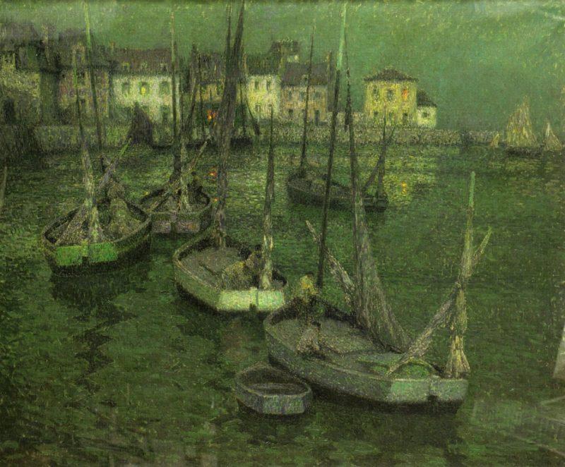 Fishing Boats | Henri Le Sidaner | oil painting