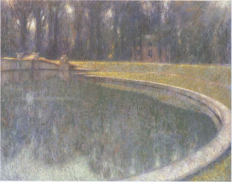 Fountain of Neptune in Versailles | Henri Le Sidaner | oil painting