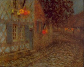 Fourteenth of July | Henri Le Sidaner | oil painting