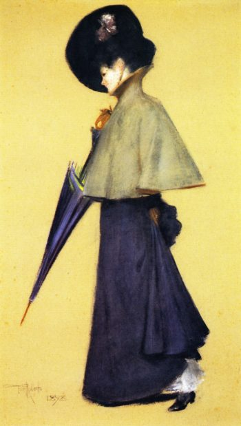 Portrait of a Standing Woman | Tom Roberts | oil painting