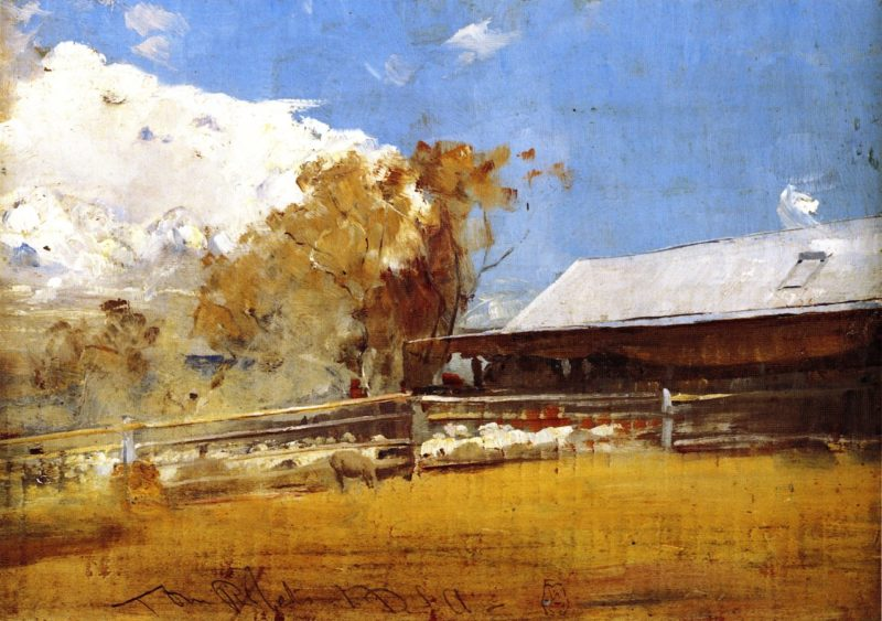 Shearing Shed Newstead | Tom Roberts | oil painting