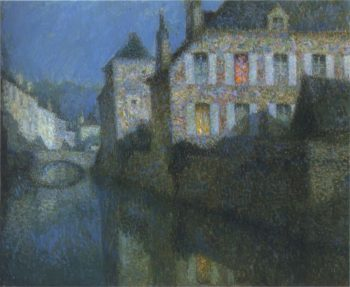 Full Moon on the River 1 | Henri Le Sidaner | oil painting