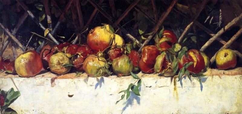 Still LIfe with Pomegranates | Tom Roberts | oil painting