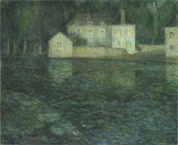 Full Moon on the River | Henri Le Sidaner | oil painting