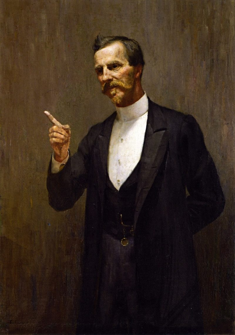The Hon Dr L I Smith   Tom Roberts   oil painting