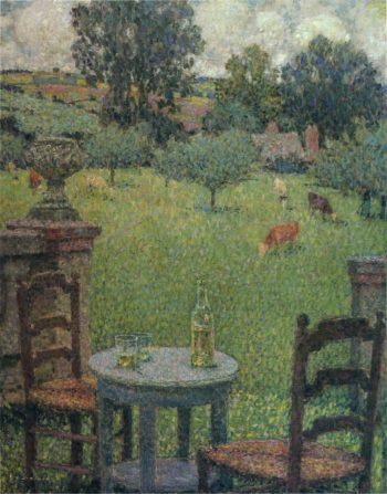 Garden at Gerberoy | Henri Le Sidaner | oil painting