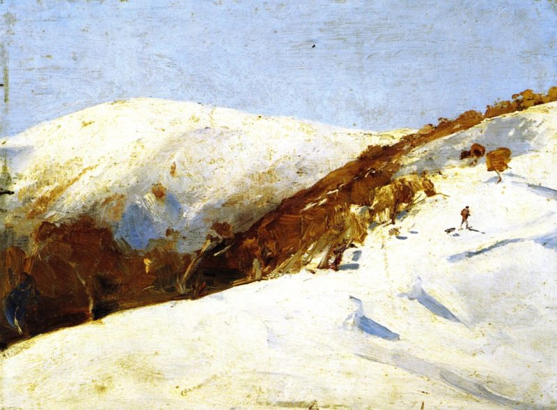 The Mailmana to Omeo | Tom Roberts | oil painting