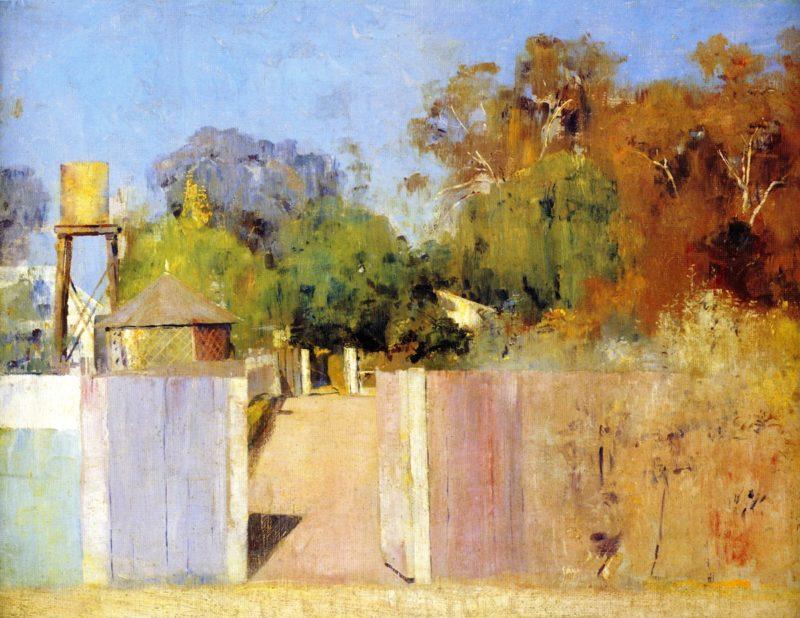 The Old Barracks at Collendina | Tom Roberts | oil painting