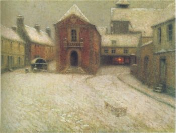 Gerberoy in the snow | Henri Le Sidaner | oil painting