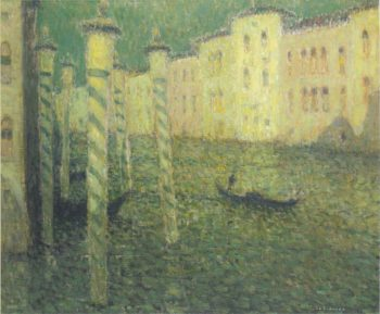 Grand Canal in Venice full moon | Henri Le Sidaner | oil painting