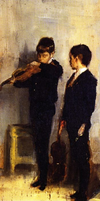 The Violin Lesson | Tom Roberts | oil painting