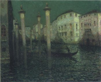 Grand Canal in Venice | Henri Le Sidaner | oil painting
