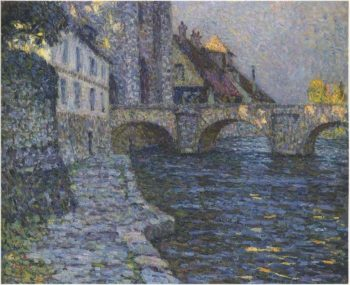Gray afternoon at Moret | Henri Le Sidaner | oil painting