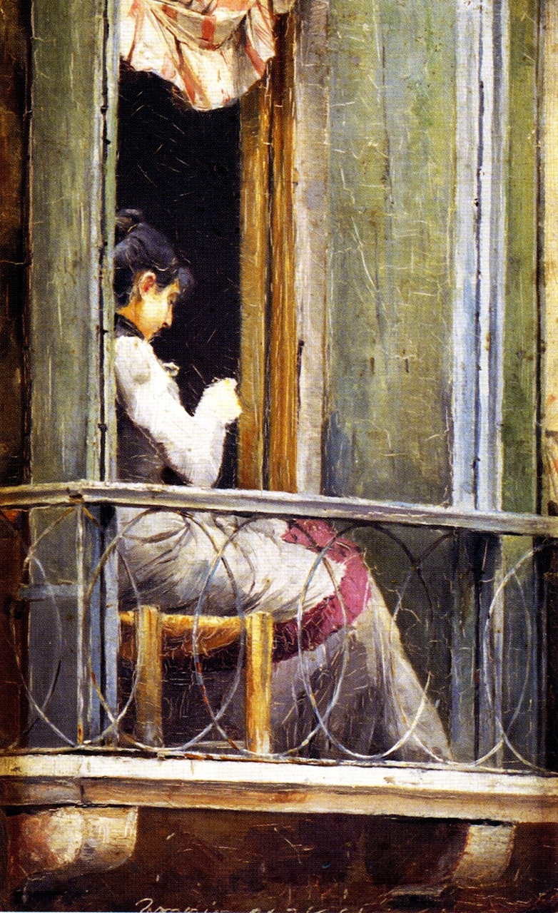 Woman on a Balcony | Tom Roberts | oil painting
